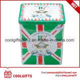 二重層のふたが付いているカスタマイズされたプリントコーヒー金属の錫ボックス