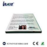 4.3 Zoll-Bildschirm-videogruß-Karten für besten Respekt