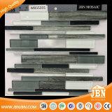 Mattonelle di mosaico di vetro di scintillio in bianco e nero di Backsplash della cucina (M855331)