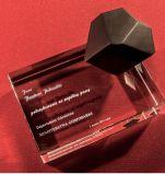 De Kubus van het kristal voor de Decoratie van het Huis met 3D Gravure van de Laser