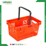 Cestino di acquisto di plastica portatile della mano del supermercato Colourful