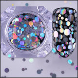 Блестящие цветные лаки Black Diamond порошок, 3D-лак для ногтей искусство украшения хлопья