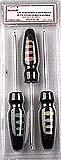 Schraubenzieher 3pcs/set mit Plastikhandgriff (gummierter Plastikhandgriff)