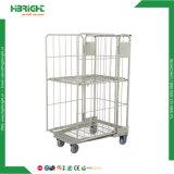 金網の倉庫のためのFoldable圧延のケージの容器