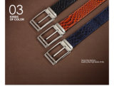方法デザイン本物のヘビの革人ベルト