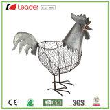 熱販売の屋内および屋外の装飾のための魅惑的な鉄のオンドリの庭の彫像の金属の雄ん鶏の彫刻