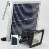 Farol solar exterior apliques de pared de aluminio con Radar de polo de montaje del sensor de movimiento y mando a distancia