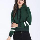 Силы хлопка женской одежде женщин удобную одежду Hoodies зеленого цвета