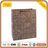 Mode Grille kraft brun sac de papier cadeau
