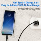 Шнур Sync данным по заряжателя кабеля USB c Nylon Braided быстрый на примечание 8 галактики Samsung, S8 плюс, LG V30 V20 G5 G6, пиксел Google, цепь 5X/6p, Moto Z2