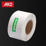 Fait en roulis thermique de papier de collant d'Adehesive d'individu d'étiquette de transfert de couche de papier synthétique faite sur commande de la taille pp de la Chine