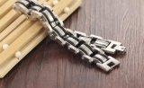 I monili dell'acciaio inossidabile del braccialetto 316L del braccialetto Chain di Motorcyle della catena della bici del motore degli uomini superiori con il silicone per gli uomini comerciano