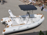 Liya 5.8mのヨットのボートの肋骨のボートの漁船の膨脹可能で堅いボート