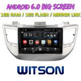 """Grand écran 9"""" Witson Android 6.0 DVD de voiture pour Hyundai Tucson/IX35 (MIDDEL/haute) 2016 avec l'écran d'origine avec A/C Affichage"""