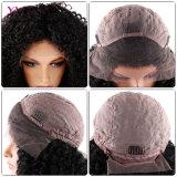 Alta peluca rizada malasia del frente del cordón de Denisty para las mujeres negras