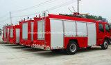 El fuego del petrolero de la espuma del agua 2000L de Isuzu 4X2 5000L extingue el carro