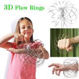 Сталь 3D поток кольца рычага Slinky динамический науки Magic Fidget игрушка для регулирования расхода