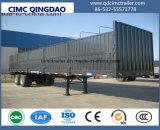 Cimc半高い塀の低下の側面のトラックのトレーラー