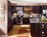 Gris pur Surface solide pour la décoration en pierre de quartz artificielle stone Vanity Tops Tops de cuisine