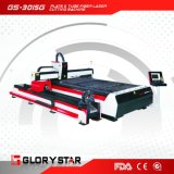 máquina de corte láser de fibra para placa de corte y el tubo de GS-3015G