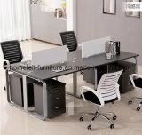 オフィス用家具の移動可能な引出しが付いている線形コンピュータの机