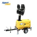 マストの縦の軽いタワーKubota 6~8kwをはめ込む良質の照明タワー携帯用LED