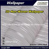 Modèle fait au hasard chaud de piste de gris argenté de vente gravant le papier peint non-tissé 53cm*10m