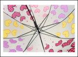도매 싼 Poe 처분할 수 있는 우산 방수 똑바른 우산 투명한 명확한 돔 우산
