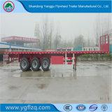 La fabricación de buena calidad de superficie plana de carga Semi Remolque con suspensión mecánica de alta resistencia