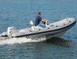 Liya 4,3 m 7personne bateau gonflable de plancher en fibre de verre d'ouvrir la nervure de bateaux