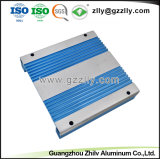 6.063 T5 perfil de alumínio anodizado azul para o amplificador de áudio do carro