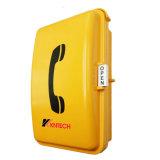 Notruftelefon-Vandalen-beständiges Telefon-wasserdichtes Telefon für Gleis