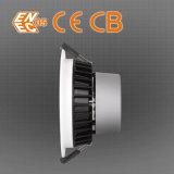 Surface commerciale à haute efficacité énergétique 18W Mouted Super Slim vers le bas de lumière LED en verre