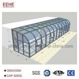 Conservatoire en aluminium de jardin avec la glace Inférieure-e