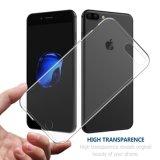 iPhone 7のプラスカバーのために、柔らかいTPUの透明な透過細い反スリップはプラスiPhone 7のために耐震性カバーを包装する