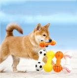ビニールのテニス・ボール犬の咀嚼の音のダンベル