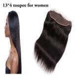 Toupee natural do cabelo das mulheres da onda do cabelo indiano