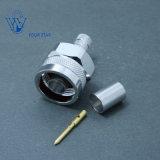 Fiche mâle coaxial RF connecteur type N à sertir pour câble LMR300