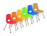 Silla moderna y competitiva del plástico de la escuela