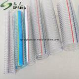Fil d'acier en plastique transparent en PVC renforcé de l'eau industrielle Durit du tuyau de décharge hydraulique