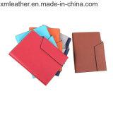 Diseños personalizados de cuero espiral Loose-Leaf PU Business Notebook