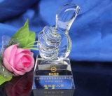 Trofeo de cristal personalizado creativo de promoción de la Copa pulgares recuerdos