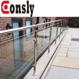 Foshan 중국 AISI304/316 미러 또는 공단 스테인리스 난간 손잡이지주 갑판 /Staircase/Fence/Balcony를 위한 유리제 방책 디자인