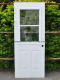 Populares de la puerta de acero americano solo vidrio interior puerta de metal (Ef-A025)