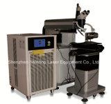 Máquina automática de la soldadura por puntos de laser de la fibra del diodo del molde de la batería del metal