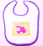 Logotipo bordado personalizado de Felpa de algodón barato de dibujos animados de bebé baberos de desgaste
