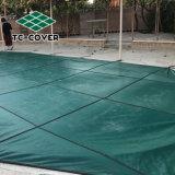 Logotipo personalizado de malla de hojas verdes con piscina cubierta de seguridad para cualquier familia Piscina y spa