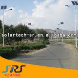 réverbère solaire en acier galvanisé à chaud de Pôle du double bras 30W