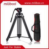 Все права защищены Miliboo601A следует использовать профессиональные портативные алюминиевая камера видеокамера штатив для видео /цифровой зеркальной фотокамеры, с гидравлической системой шаровой головки блока цилиндров