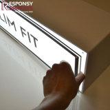 Kleiner bekanntmachender geleuchteter Aufschriftbeleuchtung-acrylsauerkasten